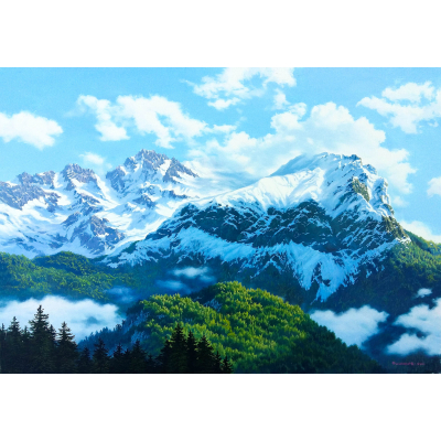 Магия гор (на подрамнике)