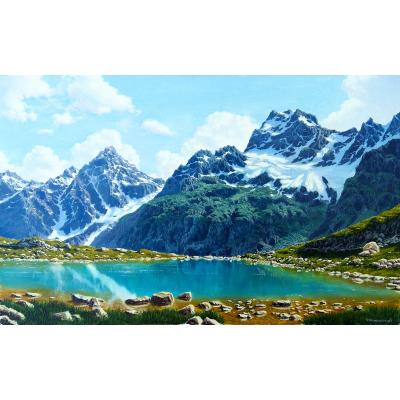 Горное озеро (на подрамнике)