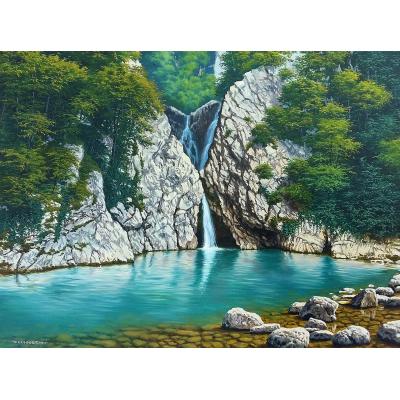 Агурский водопад. Сочи. (на подрамнике)