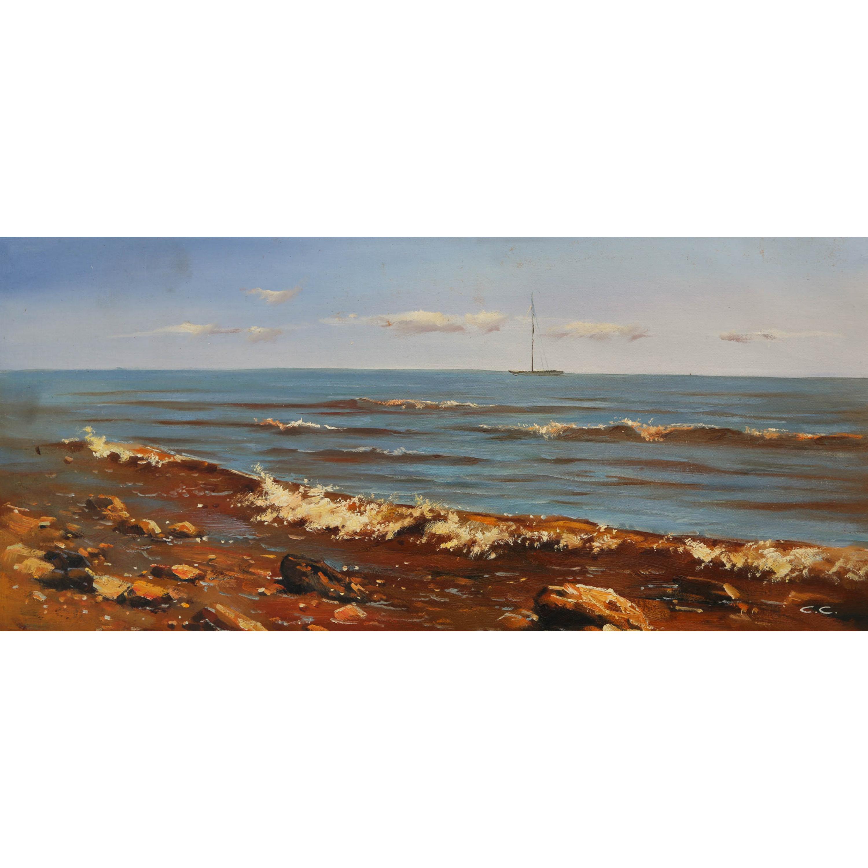 Песчаный берег (на подрамнике)