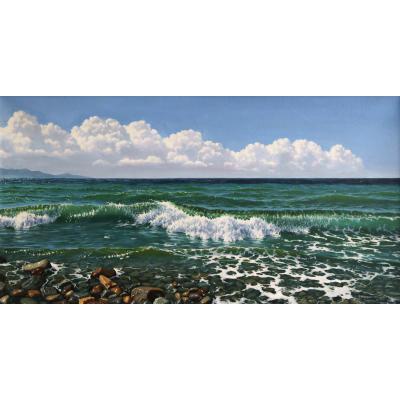 Изумрудное море (на подрамнике)