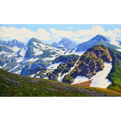 Весна в горах (на подрамнике)