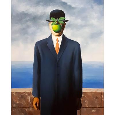 Сын человеческий. Копия с картины Рене Магритта (на подрамнике)