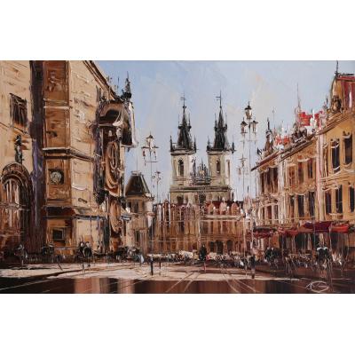 Прага, Староместская площадь (на подрамнике)