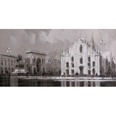 Милан, Площадь Дуомо (на подрамнике)