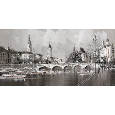 Цюрих, из серии Европейских городов (на подрамнике)
