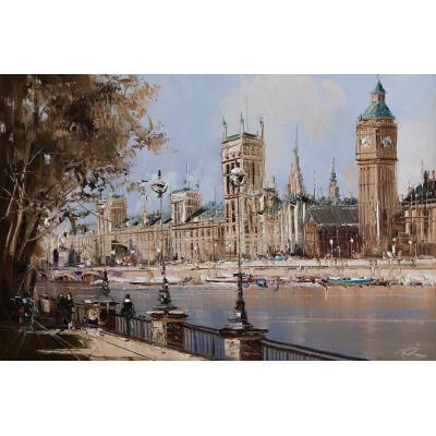 Лондон, Вестминстерский дворец (на подрамнике)