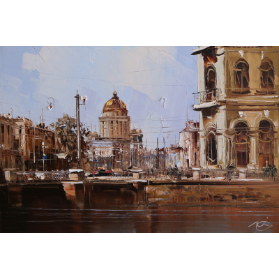 Санкт-Петербург, Вид на Исаакиевский собор (на подрамнике)