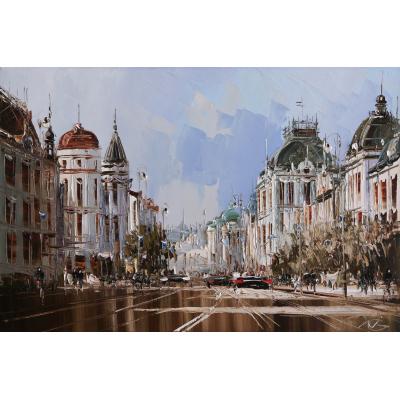 Прага, из серии Европейских городов (на подрамнике)