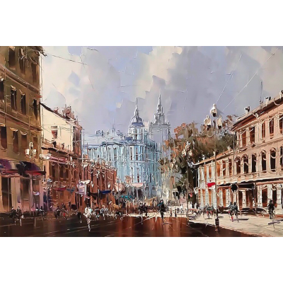 Москва, Старый Арбат (на подрамнике)