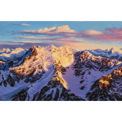 Утро в горах (на подрамнике)